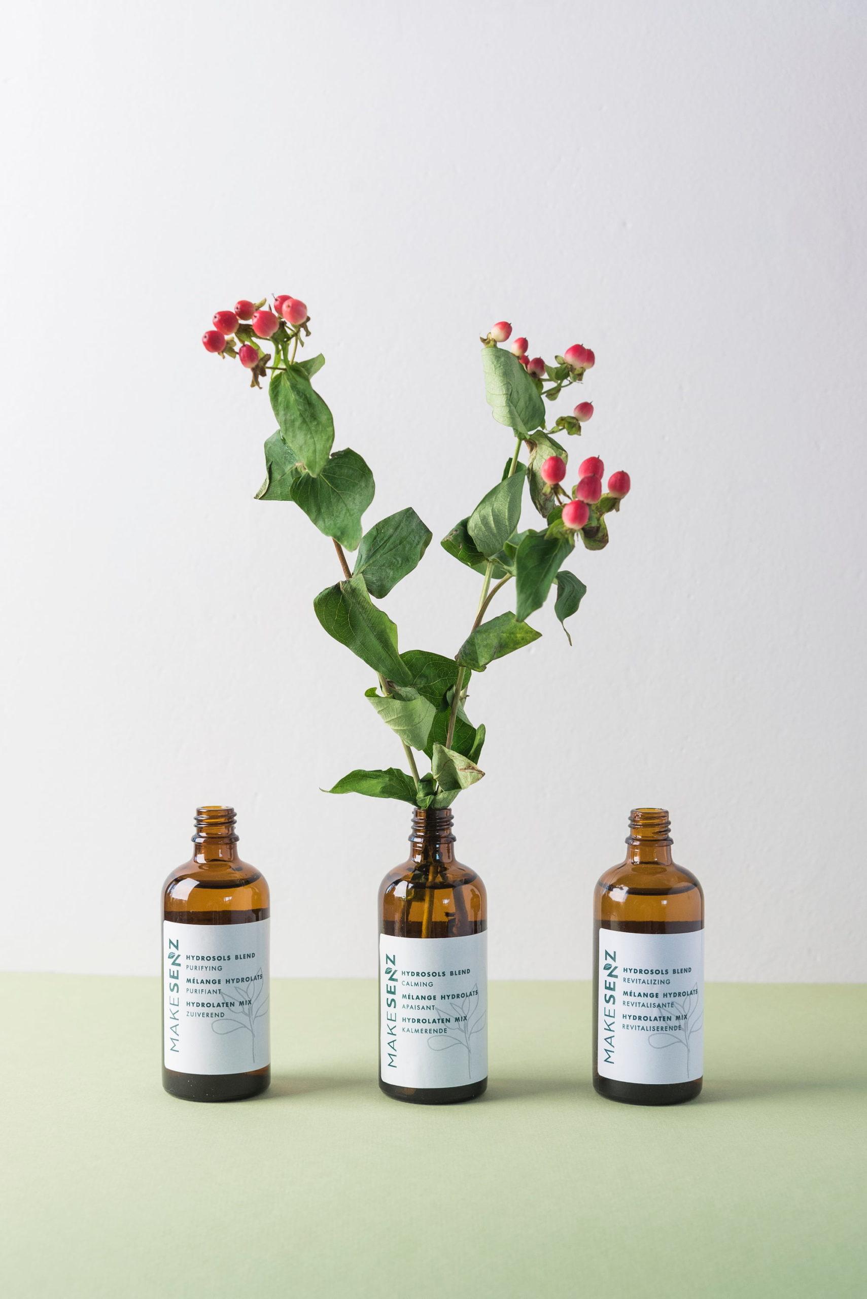 makesenz hydrolats gemaakt in het labo bij be-here in laken