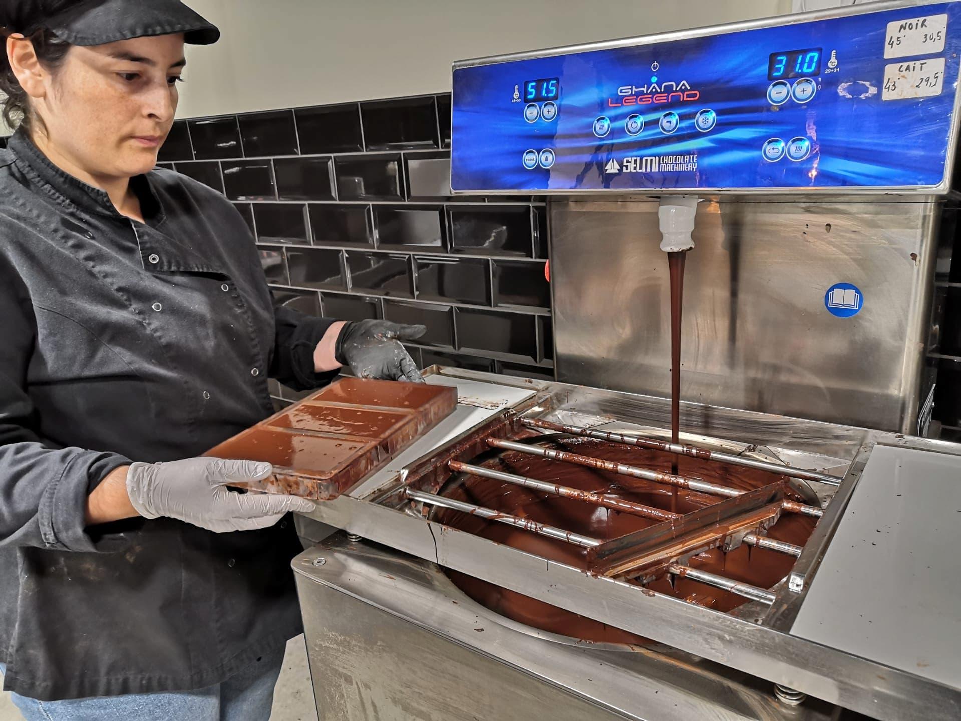 Ambachtelijke productie van Nao Chocolade machine