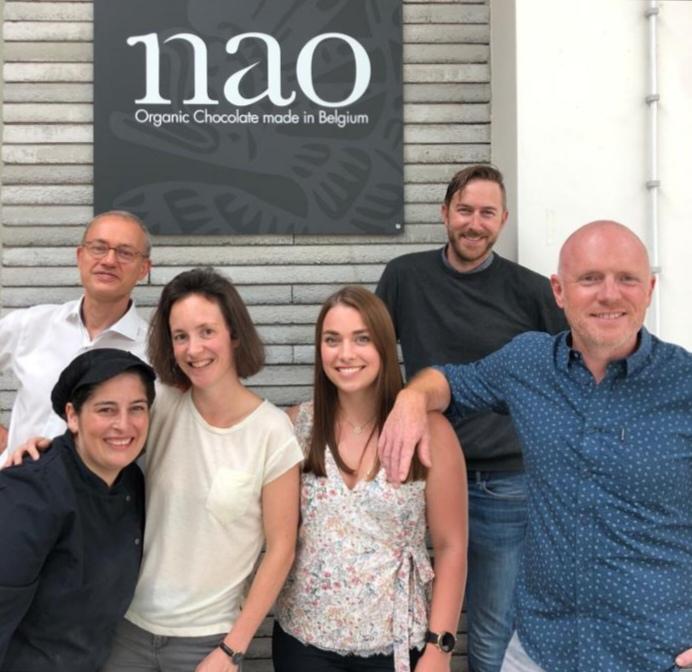 Een sterk team staat achter Nao chocolade