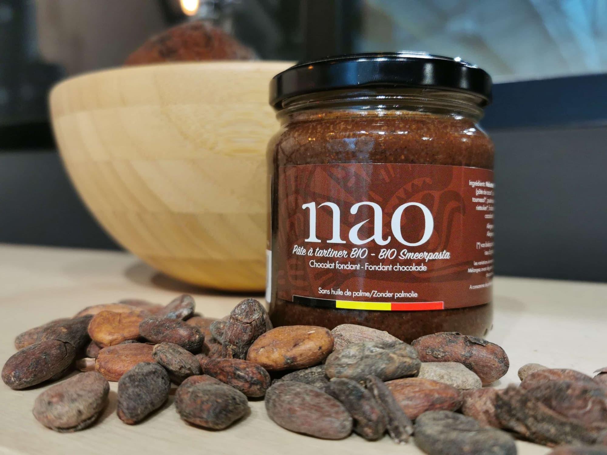 Pure smeerpasta van Nao zonder palmolie de palme