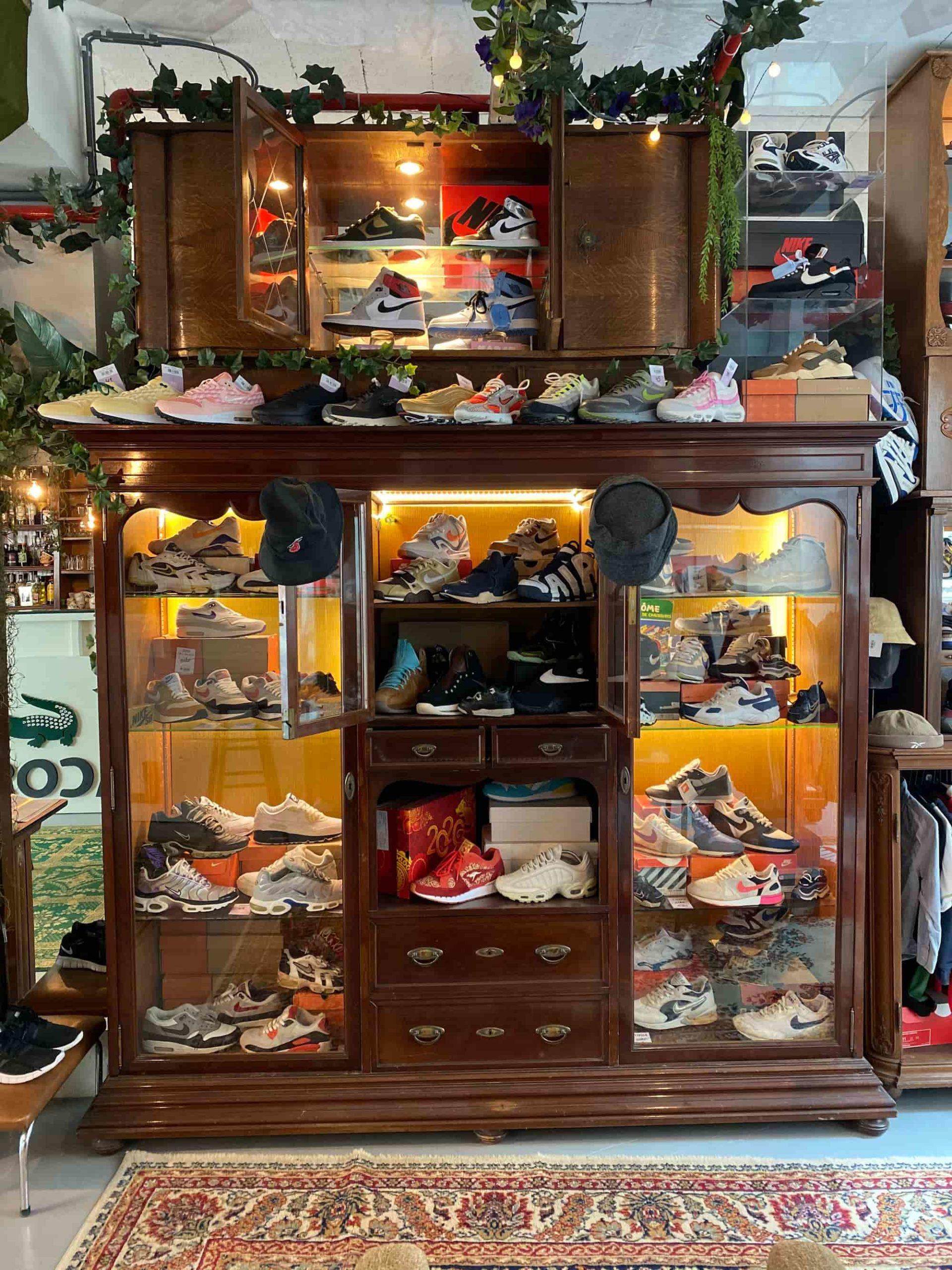 collection sneakers vintage vente en magasin