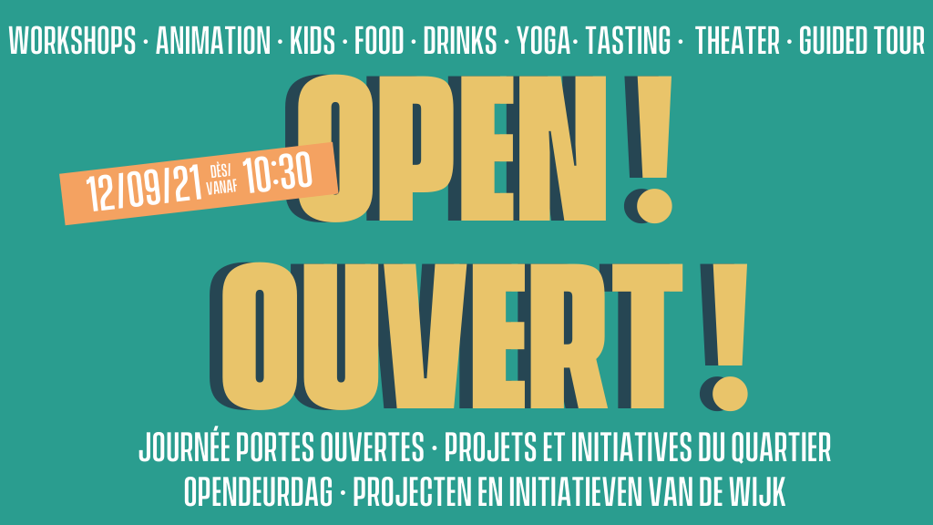 journée portes ouvertes opendeurdag initives du quartier wijkinitiatieven